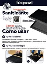 Tapete Sanitizante - Kit tapete sanitizante  mais tapete secante modelo  Dry Feet - Kapazi