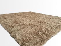 Tapete Saturs Shaggy Pelo Alto Bege - 50 x 100 cm Tapete para Sala e Quarto - Saturs Tapetes