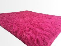 Tapete Saturs Shaggy Pelo Alto Rosa - 50 x 100 cm Tapete para Sala e Quarto - Saturs Tapetes