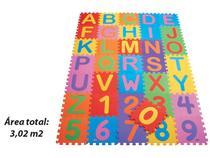 Tapete tatame Alfanumérico 36 peças - 3 m² - Mingone-Dabede