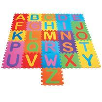 Tapete Tatame infantil em eva Alfabeto 26 peças bebê e criança - Bbr toys