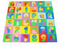 Tapete Tatame infantil em eva Alfanumérico 36 peças bebê e criança - Mingone