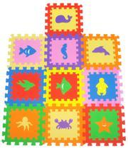 Tapete Tatame infantil em eva bichinhos 10 peças bebê e criança - Mingone