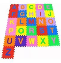 Tapete Tatame Infantil Eva 26 Peças Alfabeto 29 X 29 Cm - 99