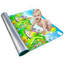 Tapete tatame infantil para bebe termico de atividades emborrachado dobravel 1,80 x 1,20 grande - Makeda