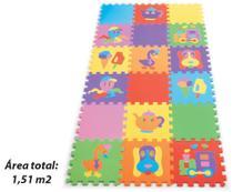 Tapete Tatame Infantil Texturizado 18 Peças - Mingone