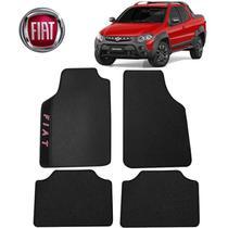 Tapete Universal Fiat Strada Preto Bordado - Gt