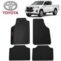 Tapete Universal Toyota Hilux Preto Bordado - Gt