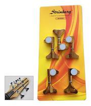 Tarrachas Tarraxas Para Baixo 5 Cordas Strinberg 3 + 2 Dourada -