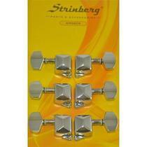 Tarraxa de Violão Aço Strinberg 3+3 Am06cr -
