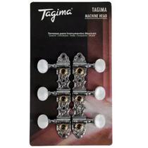 Tarraxa Tagima Blindada Para Violão Nylon Tmh831Cr Cromada - Tagima / Memphis