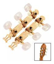 Tarraxa Tradicional 3+3 Cromada com Pino Grosso para Violão  DOLPHIN 890 -
