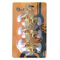 Tarraxa Violão Nylon Pino Grosso Luxo Dourada - Dolphin -