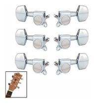 Tarraxas Blindada Cromada Para Violão Guitarra - Custom Sound