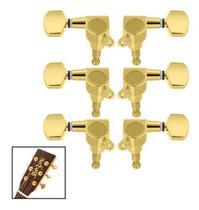 Tarraxas Blindada Douradas Violão Guitarra Les Paul Sg 3+3 - Kd Risingguitar