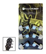 Tarraxas Tarachas Cromada Para Violão Guitarra Giannini -