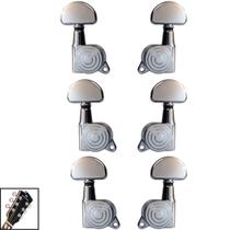 Tarraxas Tarrachas Cromada Com Trava P/ Violão Guitarra 3x3 - Kd Risingguitar
