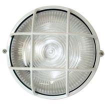 Tartaruga circular 18cm aluminio pint. epoxi e-27 1 lamp. max 60w c/ grade branca - Home Line
