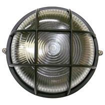 Tartaruga circular 18cm aluminio pint. epoxi e-27 1 lamp. max 60w c/ grade preta - Home Line