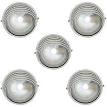 Tartaruga Circular 18cm Aluminio Pint. Epoxi E-27 1 Lamp. Max 60w Meia Cana Branca 5 unidades - Home Line