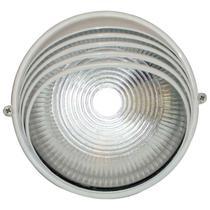 Tartaruga circular 18cm aluminio pint. epoxi e-27 1 lamp. max 60w meia cana branca - Home line