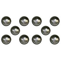 Tartaruga Circular 18cm Aluminio Pint. Epoxi E-27 1 Lamp. Max 60w Meia Cana Preta 10 unidades - Home Line