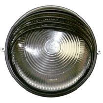 Tartaruga circular 18cm aluminio pint. epoxi e-27 1 lamp. max 60w meia cana preta - Home Line