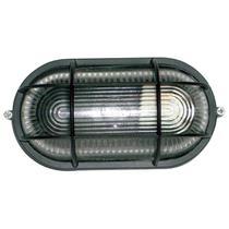 Tartaruga Oval 20cm Aluminio Pint. Epoxi E-27 1 Lamp. Max 60w C/ Grade Preta - Home Line