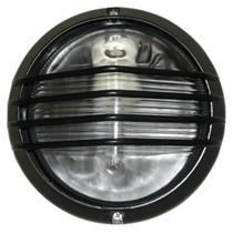Tartaruga piramide circular 19cm aluminio pint. epoxi e-27 1 lamp. max 60w preta - Home line