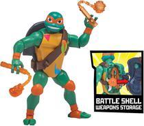 Tartarugas Ninja Figuras de Ação - Michelangelo Porta Armas - Playmates Toys
