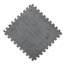 Tatame Ginastica Encaixe EVA com Pelucia 30x30 Cinza - Magma br -