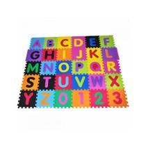 Tatame Infantil Alfabeto e Números Grandes Colorido 36 peças - Natural fitness