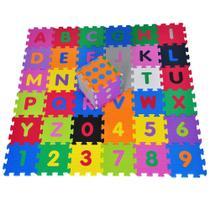 Tatame Infantil Alfabeto Números com Dado 42 peças Colorido - Natural fitness