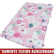 Tecido Acolchoado para Trocador da Banheira Burigotto Millenia com Furos de Fixação - Peixinho Rosa -