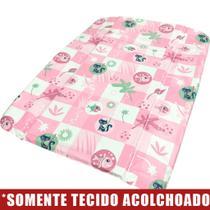 Tecido Acolchoado para Trocador da Banheira Burigotto Millenia - Peixinho Rosa -
