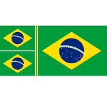 Tecido bandeira do brasil 12 metros vertical desenho 02 - niazi -
