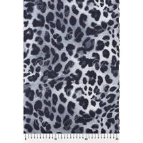 Tecido Cetim Oncinha Pintada Preto e Branco - 1,50m de Largura -