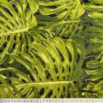 Tecido Decoração Mural Parede 2,80m Folhagem Costela de Adão Estampado - Aras Tecidos