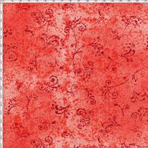 Tecido Estampado para Patchwork - 50 Tons Arabesco Vermelho Escuro Cor 06 (0,50x1,40) - Fernando Maluhy