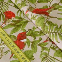 Tecido Estampado para Patchwork - Silvestre: Pássaros com Folhagem (0,50x1,50) - Fernando Maluhy
