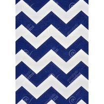 Tecido Gorgurinho Chevron Azul Marinho e Branco - 1,50m de Largura -
