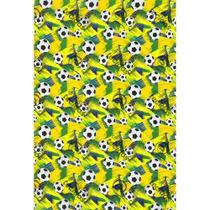 Tecido Gorgurinho Copa Bola de Futebol - 1,50m de Largura -