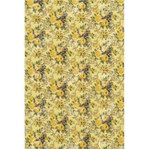 Tecido Gorgurinho Floral Vintage Amarelo - 1,50m de Largura -