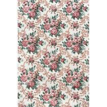Tecido Gorgurinho Floral Vintage Rosa Envelhecido - 1,50m de Largura -