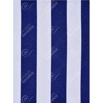 Tecido Gorgurinho Listrado Azul Royal e Branco - 1,50m de Largura -