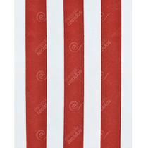Tecido Gorgurinho Listrado Vermelho e Branco - 1,50m de Largura -