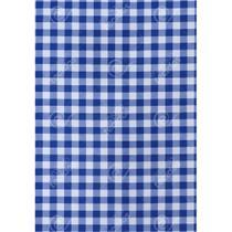 Tecido Gorgurinho Xadrez Azul Royal - 1,50m de Largura -
