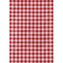 Tecido Gorgurinho Xadrez Vermelho - 1,50m de Largura -