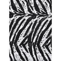 Tecido Gorgurinho Zebra Preto e Branco - 1,50m de Largura -