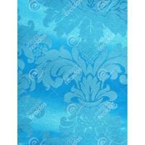 Tecido Jacquard Azul Frozen Medalhão Tradicional - 2,80m de Largura - Jacquard Tradicional